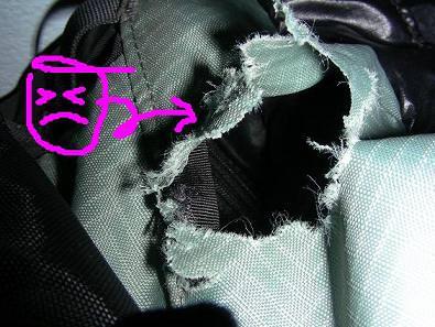 老鼠咬破了我的60L背包~